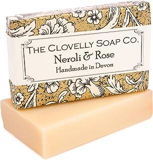 Clovelly Soap Co. Handgemachte Neroli & Rosen Naturseife für alle Hauttypen 100g