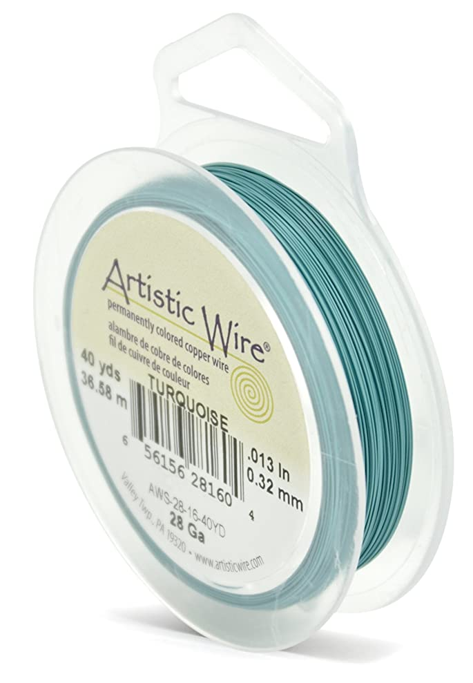 Beadalon Artistic Wire 28-Gauge Turquoise Wire, 40-Yards lckeswais2539