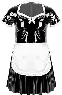 Aislor Déguisement Soubrette Homme Sissy Robe Lingerie Erotique Tablier Plaisir Femme de Menage Costume d'halloween Nuiset...