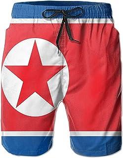 Bernice Winifred Bandera de Corea del Norte Hombres Bañadores de Secado rápido Pantalones Cortos de Playa Pantalones