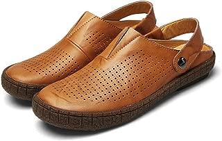 Fashion Mens Sandals Split Leather Summer Beach Casual Shoes
