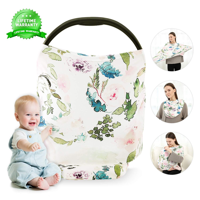 Nursing Breastfeeding Cover Shopping Cart Stretchy Multi Use Car Seat Canopy