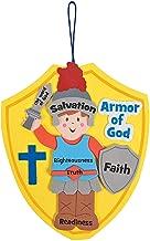 Fun Express Armor of God Craft Kit (kit Makes 12), Hanging Decor Craft Kits, Sign Decorations