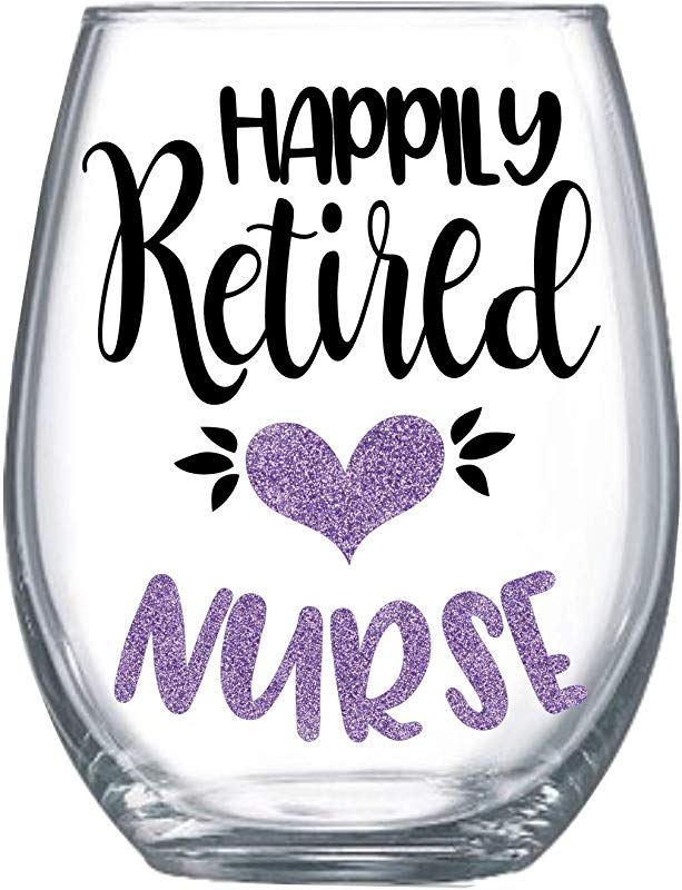 Retired Nurse Gifts For Women 20oz Retirement Party Idea Stemless Wine Glass 0148