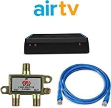 Sling AirTV Dual-Tuner Local Channel Streamer for TVs and Mobile Devices w/DVR Bundle with UW 3-Ft Cat5e UTP Cable, 2-Way ASKA TV Coaxial Cable Splitter | Bonus $25 Sling TV Credit