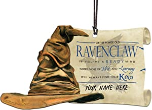 Trend Setters Harry Potter Sorting Hat - Ravenclaw Personalized - Shaped Acrylic Hanging Print Decor with Hogwarts House Quote Poem