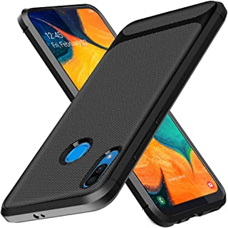 Samsung Galaxy A30 Case, Yuanming Flexible Soft TPU Slim Light Rugged Durable Armor Snugly Fit Case for Samsung Galaxy A30 (Black)