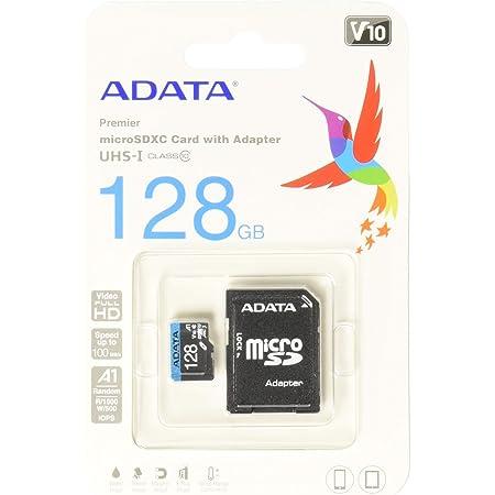 ADATA 128 GB Tarjeta de Memoria Micro SDXC con Adaptador Color Negro con Azul A1 (Clase 10)