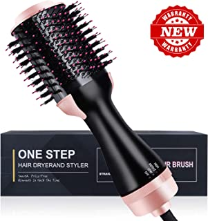 Hair Dryer Brush,3 IN 1 Hot Air Brush One Step Hair Dryer & Volumizer & Styler,Hot Air Brush,Salon Hair Straightener Static Suitable for All hair Anti-Scald