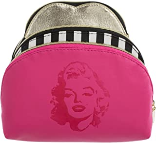 Marilyn Monroe Travel Makeup Bags: Nested Cosmetic Toiletry Bag Set in Small, Medium and Large for Women and Girls - Compact Waterproof Beauty Pouches