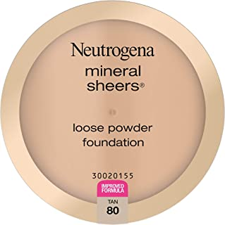 Neutrogena Mineral Sheers Lightweight Loose Powder Makeup Foundation with Vitamins A, C, E, Sheer to Medium Buildable Cove...