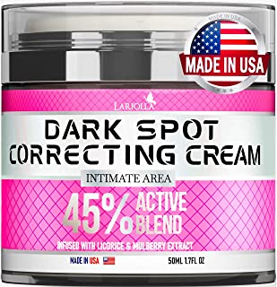 Dark Spot Remоver Cream for Intimate Areas, Body, Face, Bikini and Sensitive Areas - Made in USA - Underarm Cream with Hya...