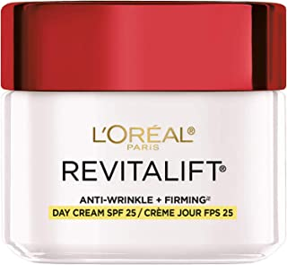 L'Oreal Paris Skincare Revitalift Anti-Aging Face Moisturizer with SPF 25, Pro-Retinol and Centella Asiatica, Paraben Free, Suitable for Sensitive Skin, 2.55 oz, Packaging May Vary