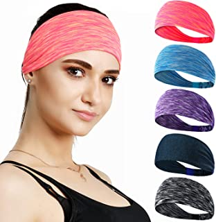 Set of 5 Women's Yoga Sport Headband For Headbands all Men & Women