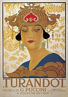 Poster Turandot (G. Puccini) - Vintage Style Italian Opera 20 x 28in