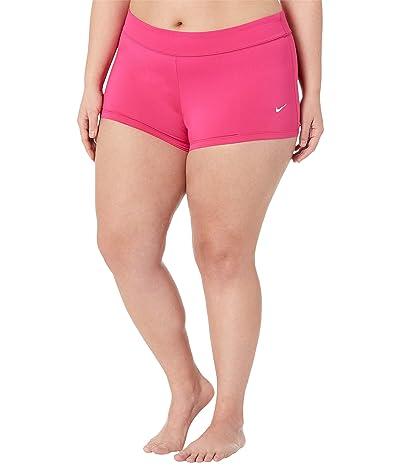 Nike Plus Size Essential Kick Shorts (Fireberry) Women