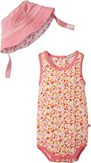 Baby Girls' Geo Sunsuit/Sun Hat Set