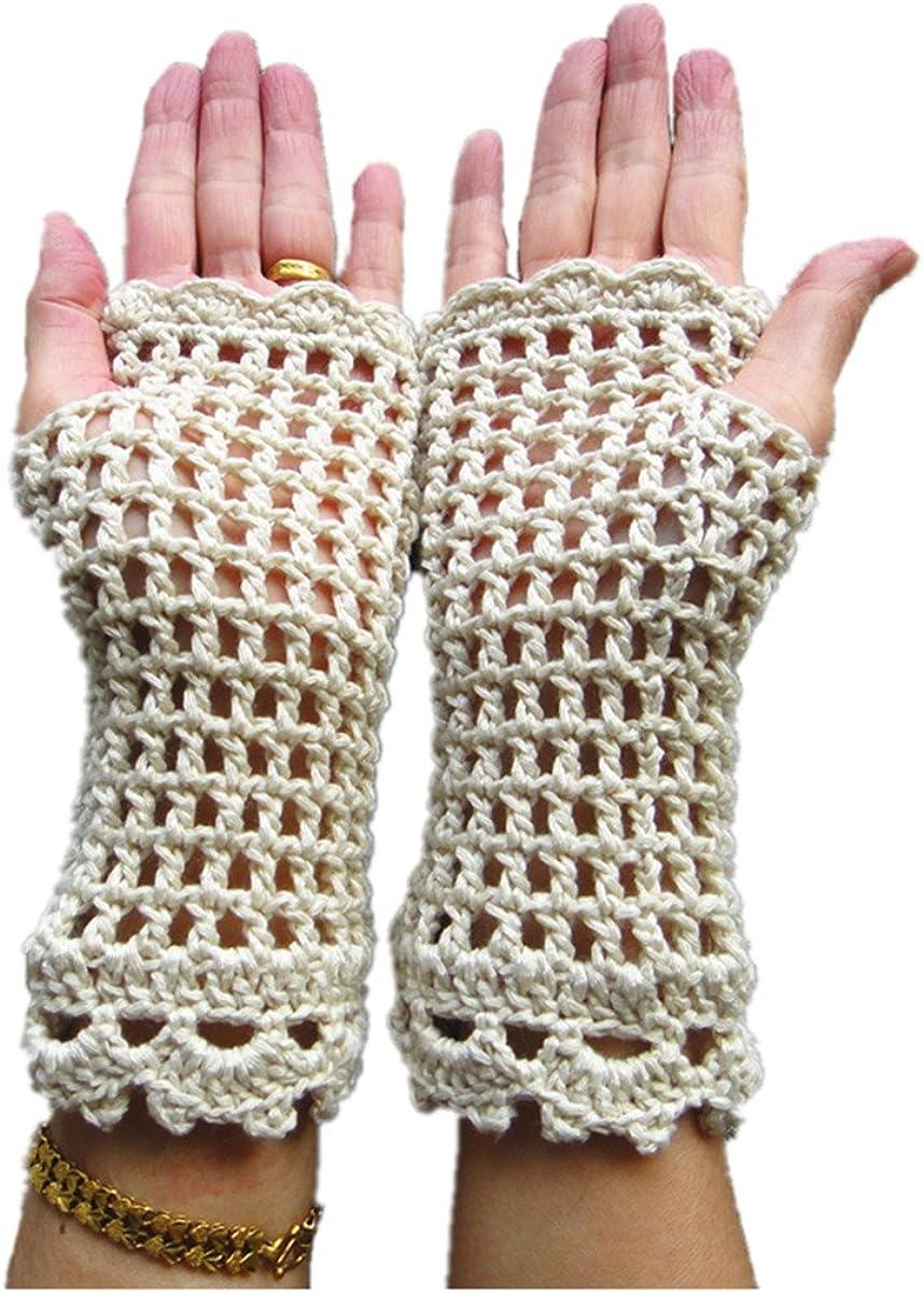 tinacrochetstudio? Crochet Fingerless Gloves Custom Elbow Length Mitness