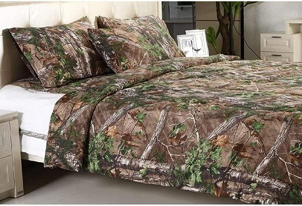 REALTREE Xtra Green Micro Peach Super Soft Printed Comforter KING