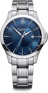 Victorinox Alliance Ø 40, cadran bleu, boîtier en acier inoxydable argenté, bracelet en acier inoxydable argenté pour homm...