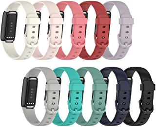 Lemspum Compatible Silicone Bands Sports Wristbands Replacement for Fitbit Luxe, Luxe Special Edition Fitness Tracker Accessories Small/Large Watchbands (L (6.1