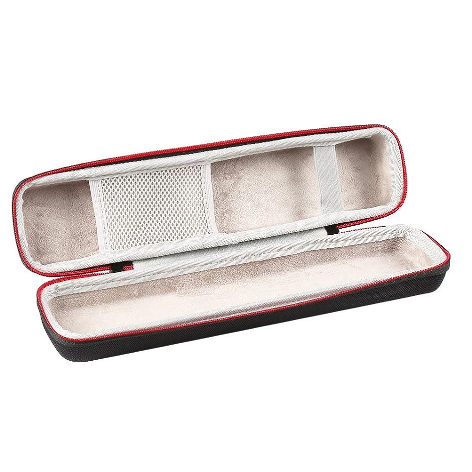 縮約水没カナダヘアアイロンケース 専用ポーチ 収納カバー 多数類ヘアアイロン収納可能メッシポケット付き (ブラック)