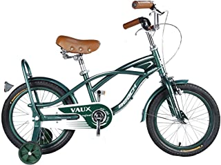 """Vaux Bicycle for Kids- Vaux Beach Cruiser European Fashion 16T Kids Bicycle. Ideal for Cyclist with Height (3'5"""" – 4') – Green."""