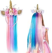 Lorfancy Unicorn Headband for Girls Unicorn Costume Birthday Halloween Party Unicorn Party Supplies Favors