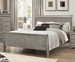 Louis Philip Grey Finish Wood Queen Sleigh Bed by Crown Mark