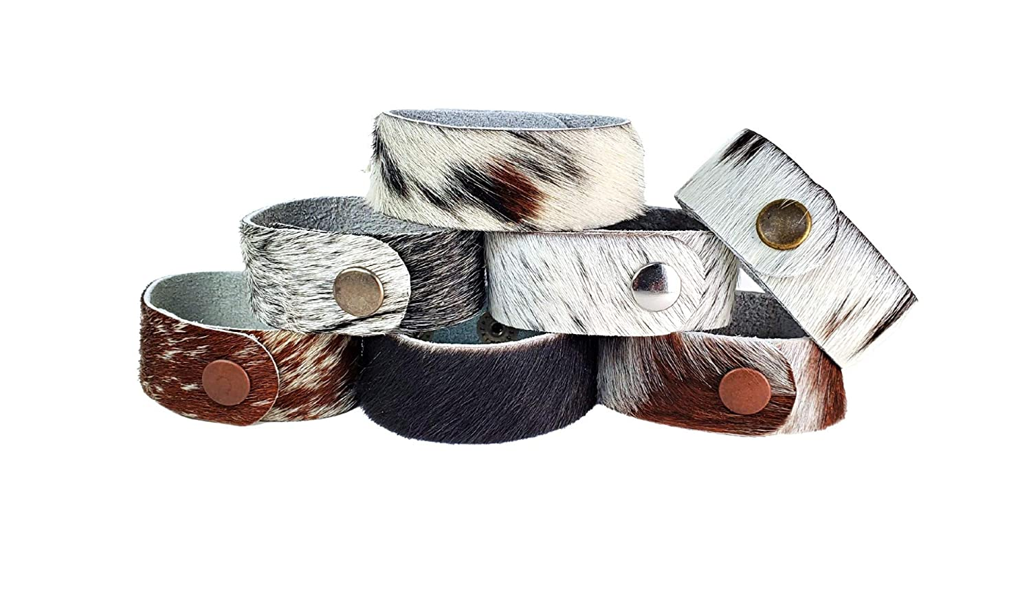 Natural Superlatite Hair On Cowhide Jewelry Leather Cuffs Bracelet Denver Mall