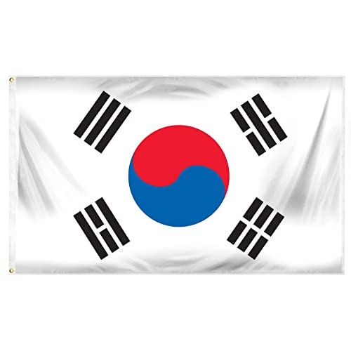Online Stores South Korea Printed Polyester Flag, 3 by 5-Feet
