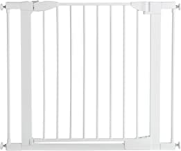 Munchkin Auto Close Pressure Mounted Baby Gate for Stairs, Hallways and Doors, Walk Through with Door, Metal, White