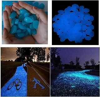 Glow Stones, Rocks for Yard Aquarium Fish Tank Aquarium Decorations Pebbles Glow Stone Rocks (Blue)