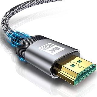 sweguard Cable HDMI 2.1 8K 5M, Ultra HD de Alta Velocidad 48Gpbs 8K@60hz 4K@120hz 144Hz eARC HDR10 4: 4: 4 HDCP 2.2 y 2.3 ...
