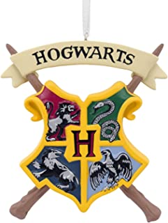 WB Hallmark Harry Potter Hogwarts Crest Christmas Tree Ornament