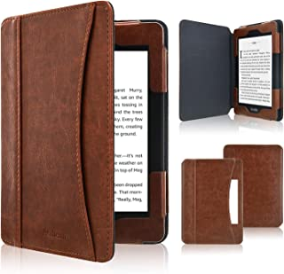 ACdream Kindle Paperwhite Case 2018, Folio Smart Cover Leather Case with Auto Sleep Wake Feature for All New and Previous Kindle Paperwhite Models, Brown