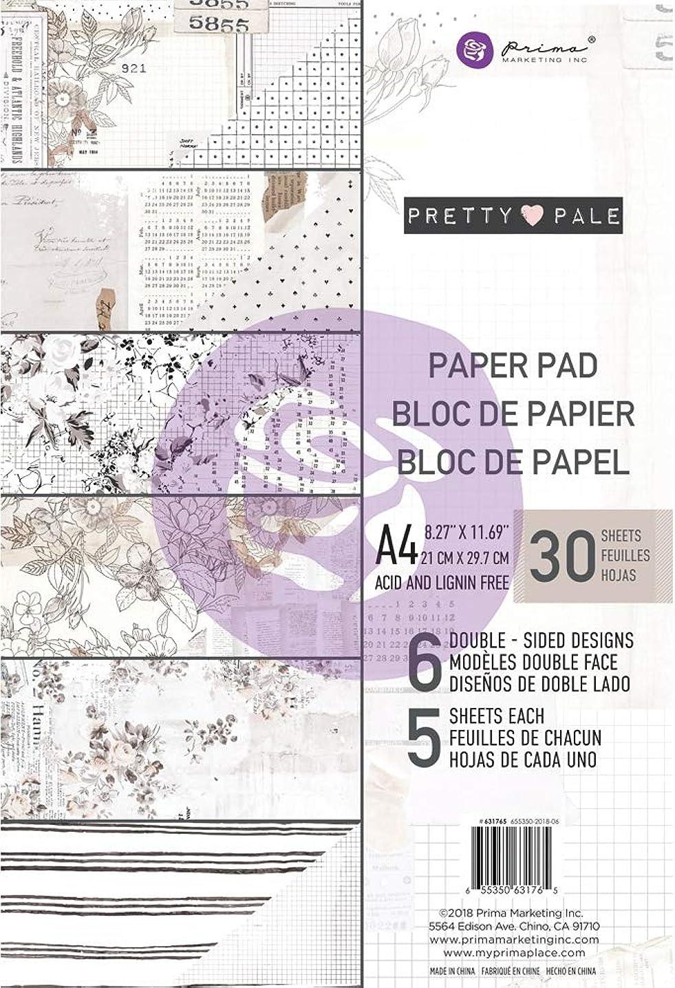 Prima Marketing 631765 Double-Sided Paper Pad A4 30/Pkg-Pretty Pale, 6 Designs/5