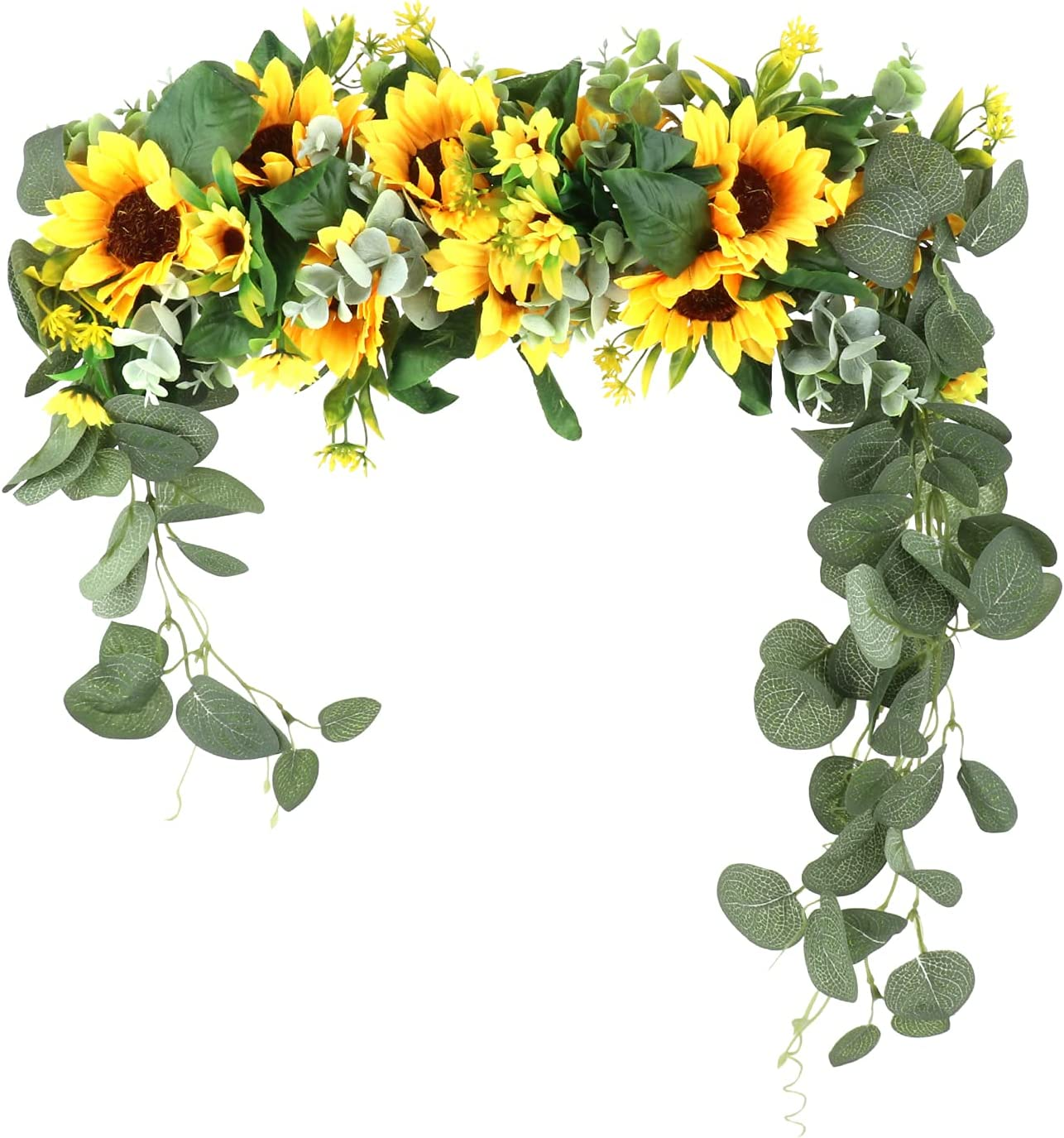 BELUAPI Artificial Sunflowers Popular High order products Swag Sunflower 17.71in Wedding Sw