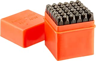Neiko 02624 Classic Numbers & Letters Punch Set | Hardened, Heat Treated Steel | 36 Piece Set