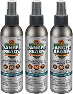 Ranger Ready Repellents Picaridin 20% Tick + Insect Repellent Spray Excursion Pack | Night Sky Scent | 3X 150ml/5.0oz