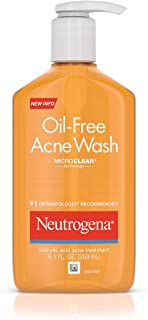 Neutrogena Oil-Free Acne Fighting Facial Cleanser with Salicylic Acid Acne Treatment medicine,, Daily Oil Free Acne Face Wash for Acne-Prone Skin with Salicylic Acid Medicine, 9.1 fl. Oz (Pack of 3)