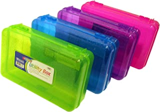 BAZIC Set of 4 Glitter Utility Storage Box for School Supplies or Arts & Crafts 8