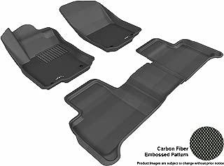 3D MAXpider Complete Set Custom Fit All-Weather Floor Mat for Select Mercedes-Benz GLE-Class/ ML-Class Models - Kagu Rubber (Black)