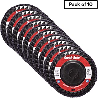 1 Arbor 3M CS-UW 7000 rpm Pack of 2 Silicon Carbide TM Scotch-Brite Clean and Strip Unitized Wheel 6 Diameter x 1 Width 7S Extra Coarse Grit
