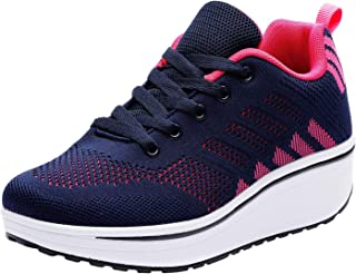 Women's Lace Up Platform Fashion Sneakers Breathable Sport Running Shoe