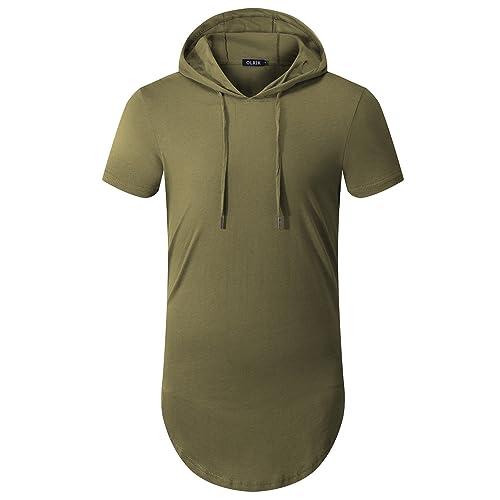c514cb1d545b7 OLRIK Men s Hipster Hip Hop Hoodie Side Zipper Tshirt