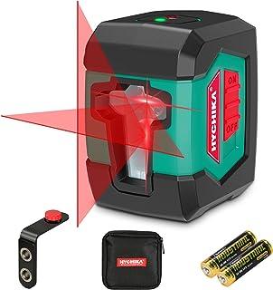 Livella Laser 15M, HYCHIKA Livella Laser Autolivellante a Croce con Modulo Laser Doppio (Alternato tra Linee Singole e Dop...