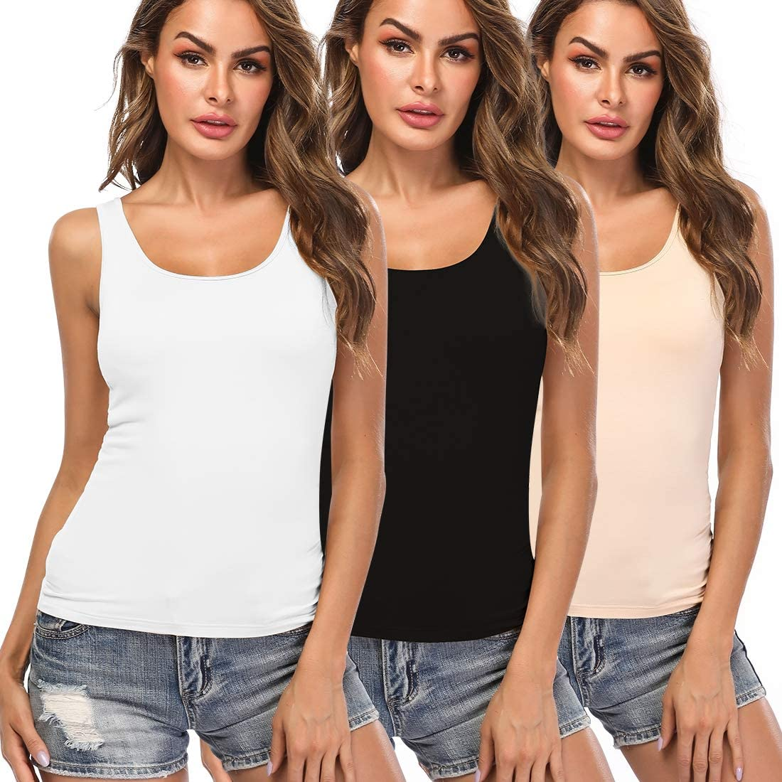 Camisoles for Women with Built in Layering Bra Ta Top Today's only Yoga Basic Super sale period limited