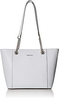 Calvin Klein womens Calvin Klein Saffiano Gifting Tote Calvin Klein Hayden Saffiano Leather East/West Top Zip Chain Tote