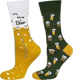 soxo, Calcetines de Colores para Hombres con Dibujo de Cerveza | talla 40-45 EU | de Algodón | Accesorio Original